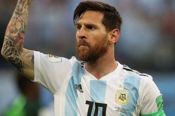 Lionel Messi festeggia una rete realizzata il 26 giugno 2018 in una partita del mondiale di Russia.  Fonte: Messi Wikipedia
