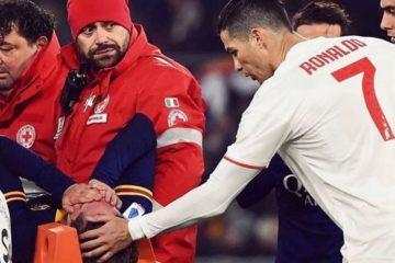 Ronaldo rincuora Zaniolo che esce in barella. Fonte: instagram.com/nicolozaniolo