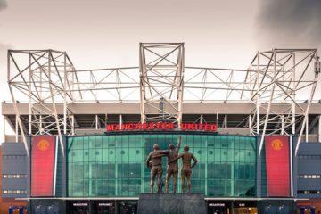 Panoramica esterna dell'Old Trafford, foto presente in una pagina
