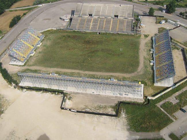 Stadio Benito Stirpe in costruzione a luglio 2017