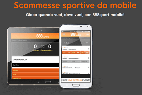 888 App Mobile per Android e iOS
