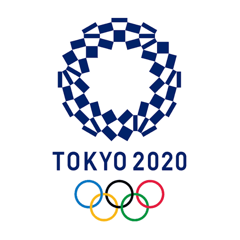 Il logo delle Olimpiadi di Tokyo 2020 (foto da: wikimedia.org)