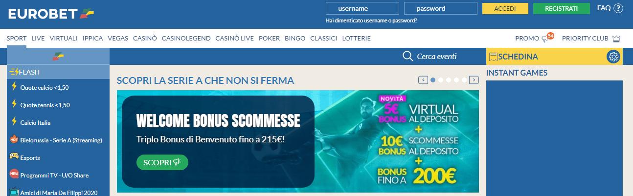 Bonus Eurobet Scommesse