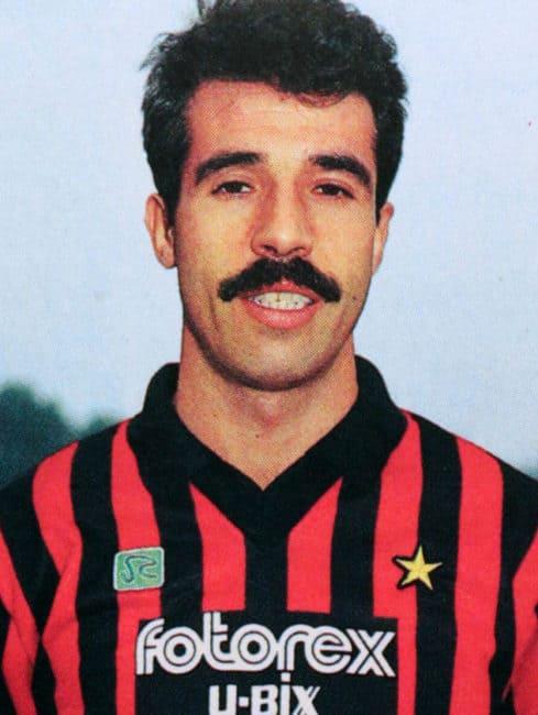 Pietro Paolo Virdis con la maglia del Milan nella stagione 1987-88