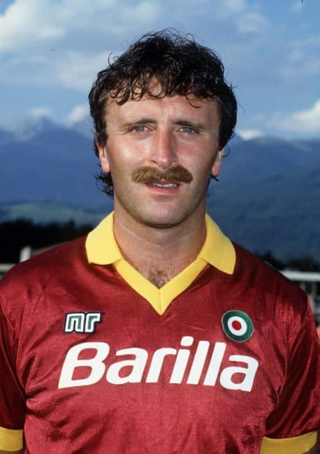 Roberto Pruzzo con la maglia della Roma nella stagione 1986-87