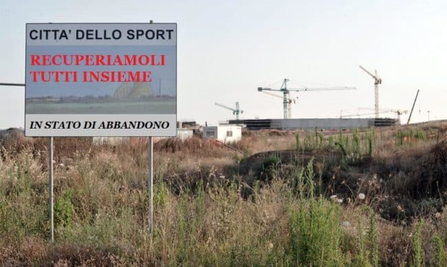 Un esempio di campi abbandonati a Roma