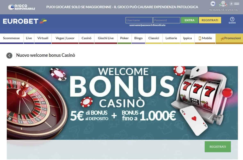 Casino Online di Eurobet