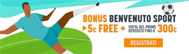 Snai Bonus Benvenuto Sport