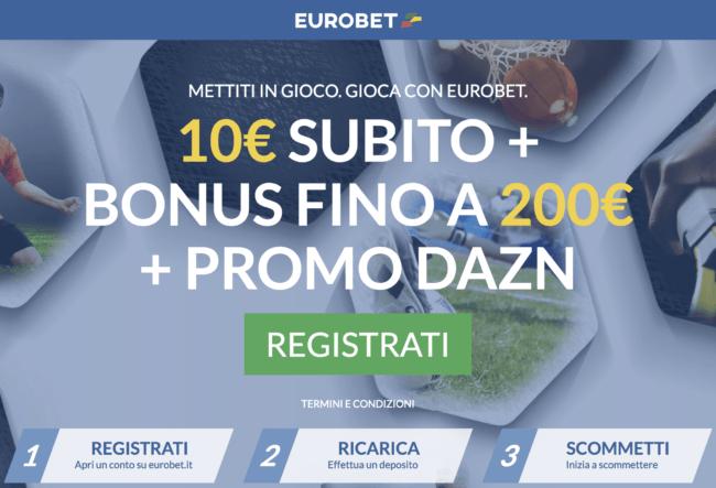 Bonus Benvenuto Eurobet Scommesse