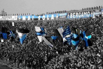Una vecchia foto dello stadio di Bergamo