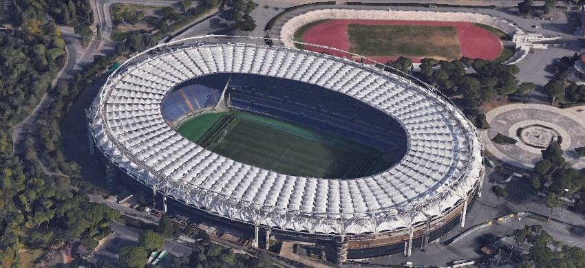 Panoramica esterna dell'Olimpico