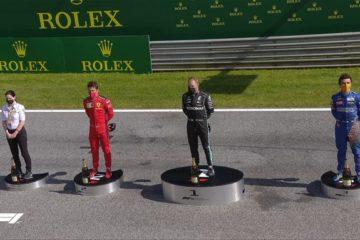 Il podio del Gran Premio d'Austria 2020 (foto da: twitter.com/F1)