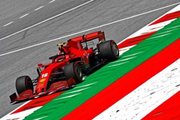 Charles Leclerc, nel corso delle libere del venerdì del Gran Premio di Stiria 2020 (foto da: twitter.com/ScuderiaFerrari)