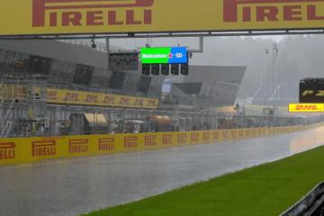 La troppa pioggia ha portato alla cancellazione della terza sessione di libere del Gran Premio di Stiria (foto da: twitter.com)