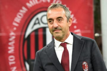 MILAN, ITALY - SEPTEMBER 21: Head coach Marco Giampaolo of Milan looks on during the Serie A match between AC Milan and FC Internazionale at Stadio Giuseppe Meazza on September 21, 2019 in Milan, Italy. (Photo by Tullio M. Puglia/Getty Images)