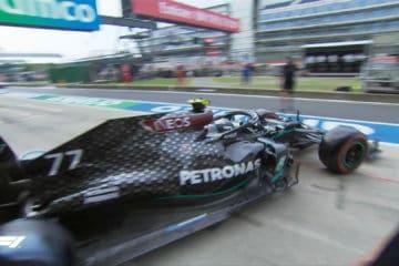 Pole #13 in carriera per Valtteri Bottas, che partirà davanti a tutti nel GP del 70° Anniversario (foto da: twitter.com/F1)
