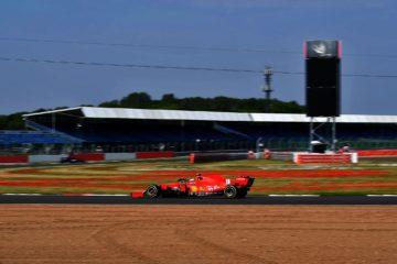 Charles Leclerc, durante il Gran Premio del 70° Anniversario a Silverstone, chiuso al 4° posto (foto da: twitter.com/ScuderiaFerrari)