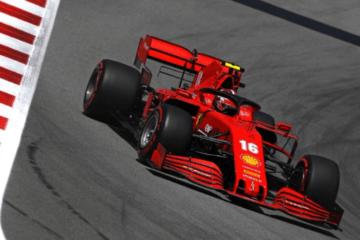 Anche in Spagna la Ferrari soffre in Qualifica, con Leclerc in foto) 9° e Vettel 11° (foto da: twitter.com/ScuderiaFerrari)