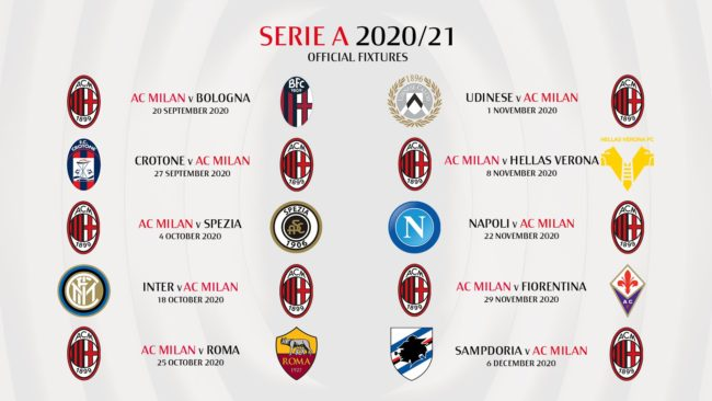 Calendario Milan Serie A 2020 2021 | StadioSport.it