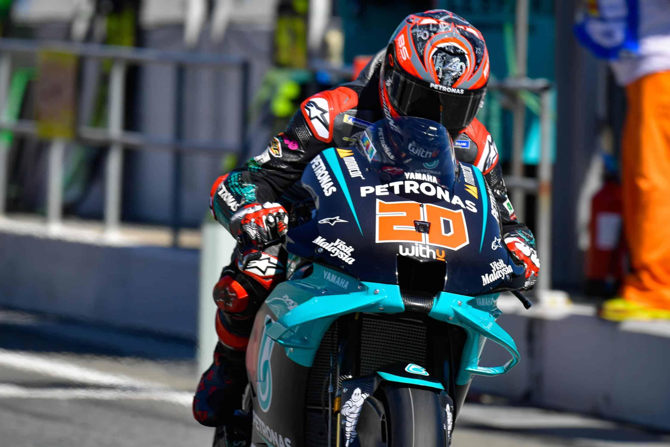 Fabio Quartararo ha siglato il miglior tempo nelle PL3 del Gran Premio di Catalunya 2020 (foto da: motogp.com)