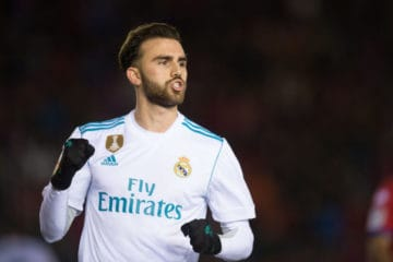 SORIA, SPAIN - JANUARY 04: Borja Mayoral of Real Madrid celebrates after scoring his team's 3rd goal during the Copa del Rey match between Numancia and Real Madrid at Nuevo Estadio Los Pajarito on January 4, 2018 in Soria, Spain. (Photo by Denis Doyle/Getty Images)