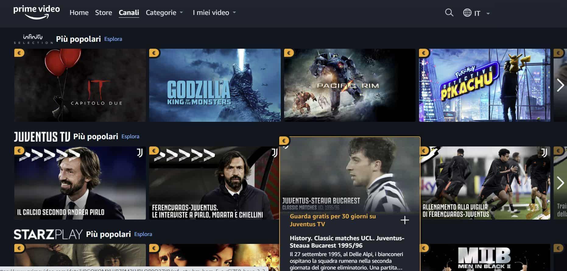 Amazon Prima Video Channels