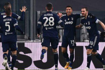 Esultanza dei giocatori della Juve