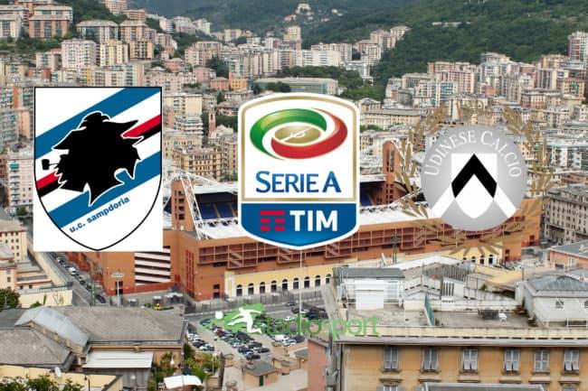 Sampdoria Udinese diretta tv