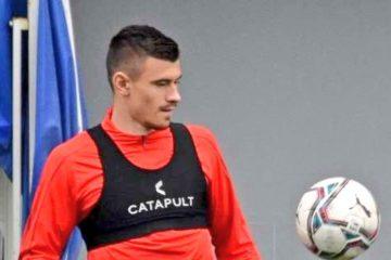 Kamenovic, difensore servo classe 2000, prelevato dalla Lazio  per la prossima stagione. Fonte: Twitter Lazio Land
