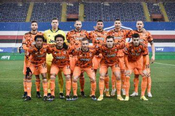 """La formazione titolare della Juve a Marassi, fonte pagina """"Facebook"""" ufficiale di Giorgio Chiellini"""