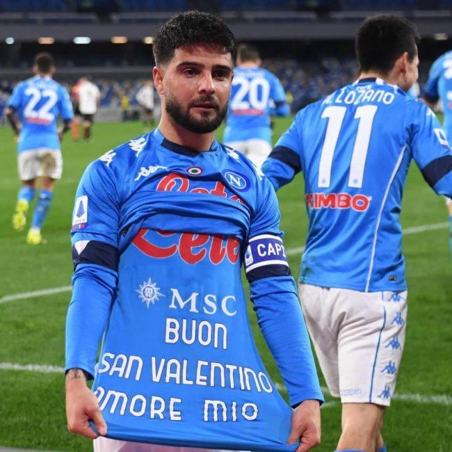 Insigne 100 gol Napoli