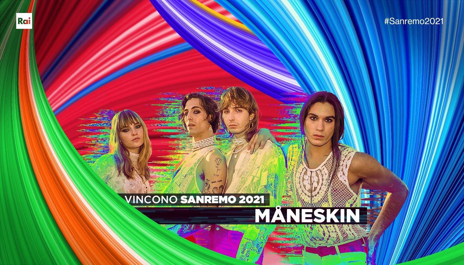 Copertina vittoria Maneskin