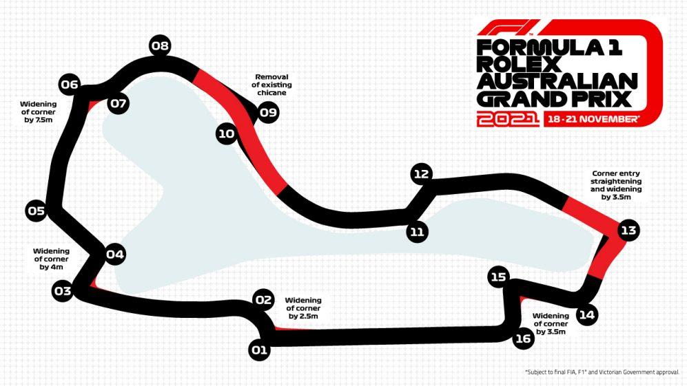 Formula 1: svelato il nuovo layout di Albert Park