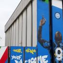 Inter: murales dei tifosi per Lukaku