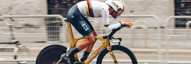 Filippo Ganna prima maglia rosa al Giro d'Italia 2021
